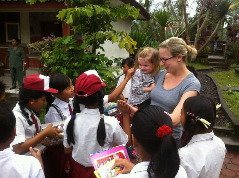 Meeting the locals in Bali