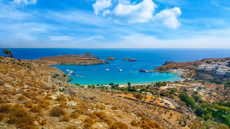 St Pauls Bay Lindos Greece pxaby