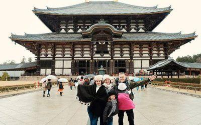 Japan with kids - at Nara Deer park