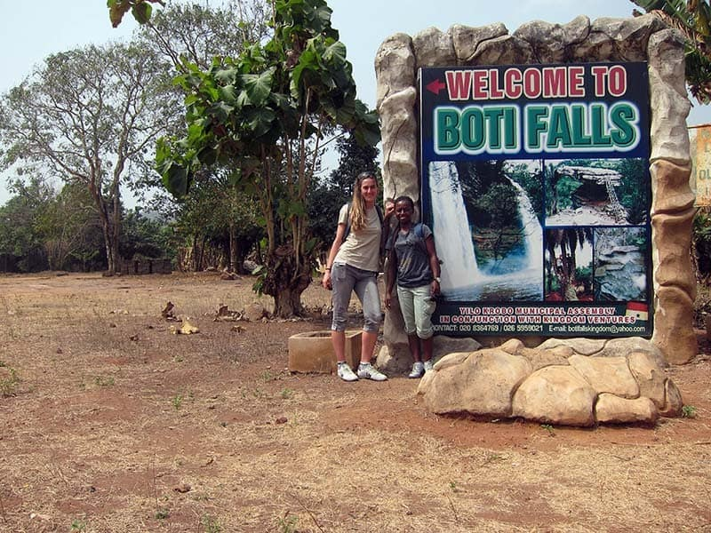 volunteering Boti falls