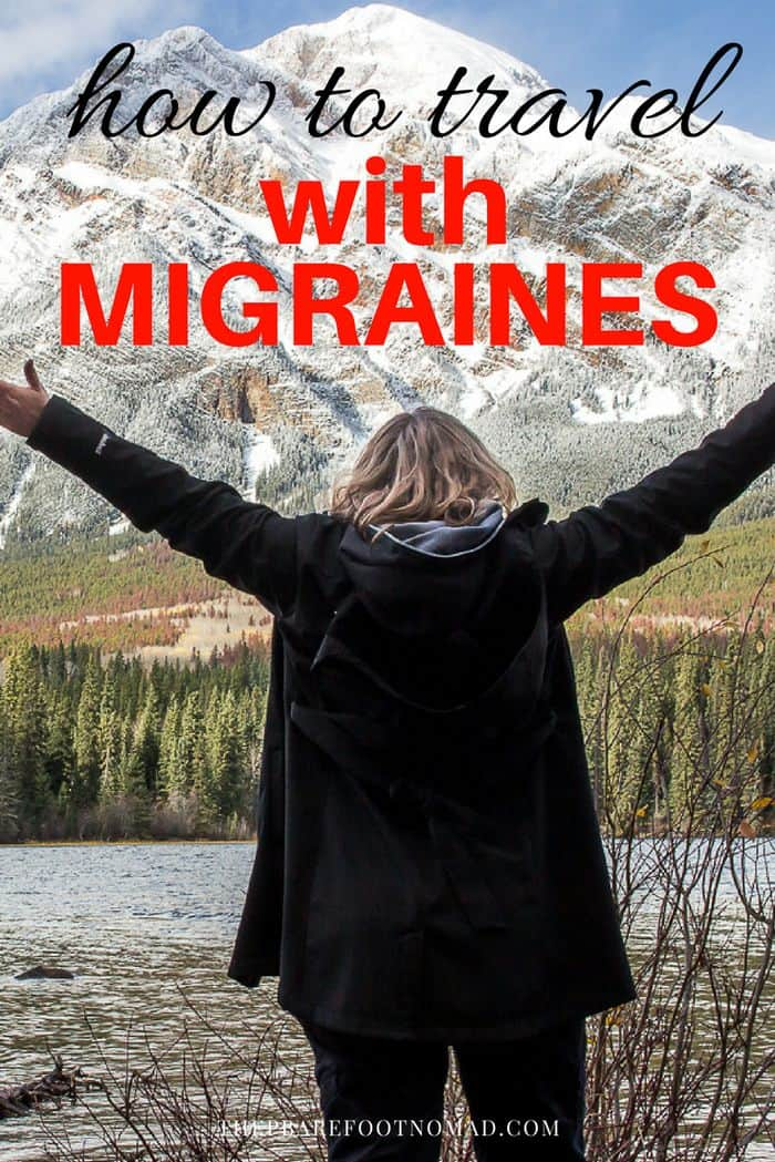 how to travel with migraines