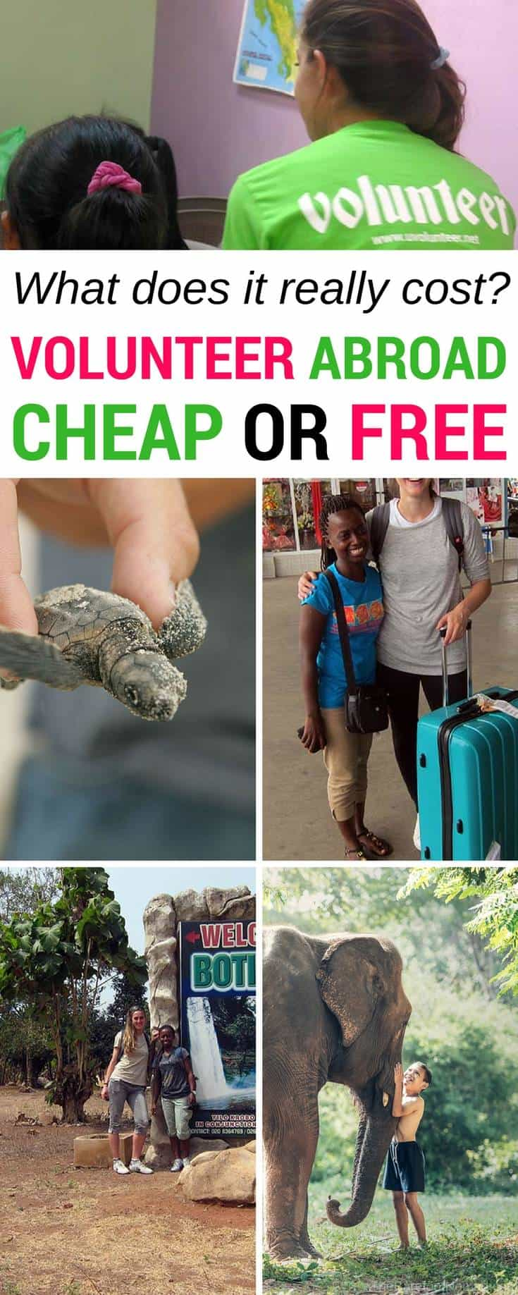 Do you want to volunteer abroad and travel, but you're worried about the cost? It is possible to volunteer for free or cheap, but our expert shares the real costs of volunteer work programs, including money to budget for airfare, meals, volunteer, fees and more.