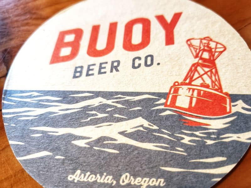 Buoy Beer Co coaster Astoria Oregon Coast