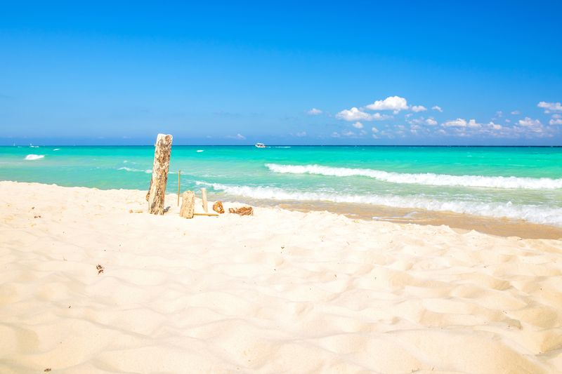 Playacar beach at Playa Del Carmen Mexico