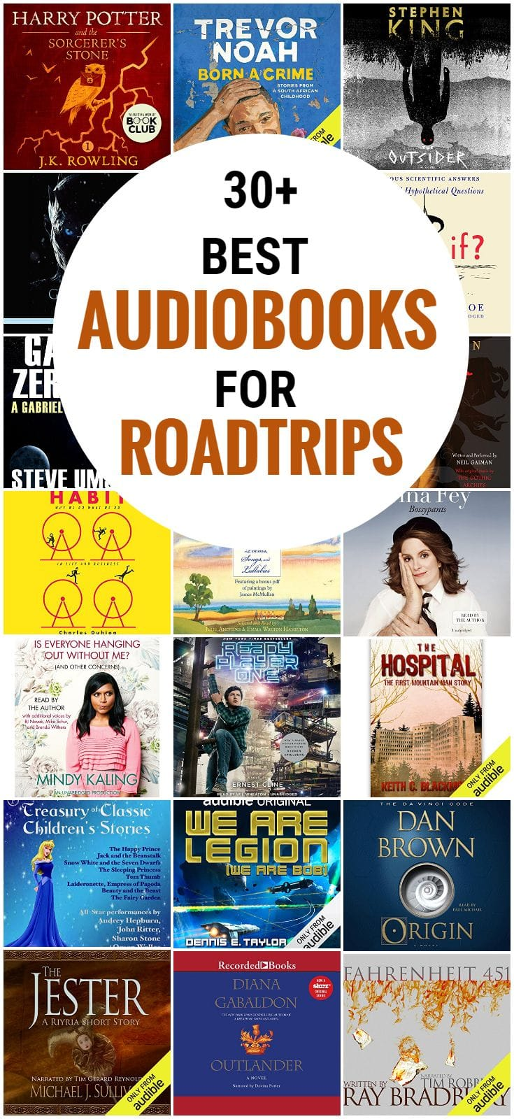 Looking for the best audiobooks for road trips? We share the very best great selection of free, adult, kids, romance, funny, fiction, mystery, thriller and fantasy, and more on Audible, plus books for little kids, teens and tweens.