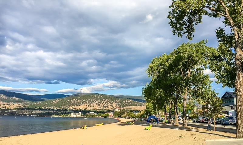 Penticton's beautiful Okanagan Beach