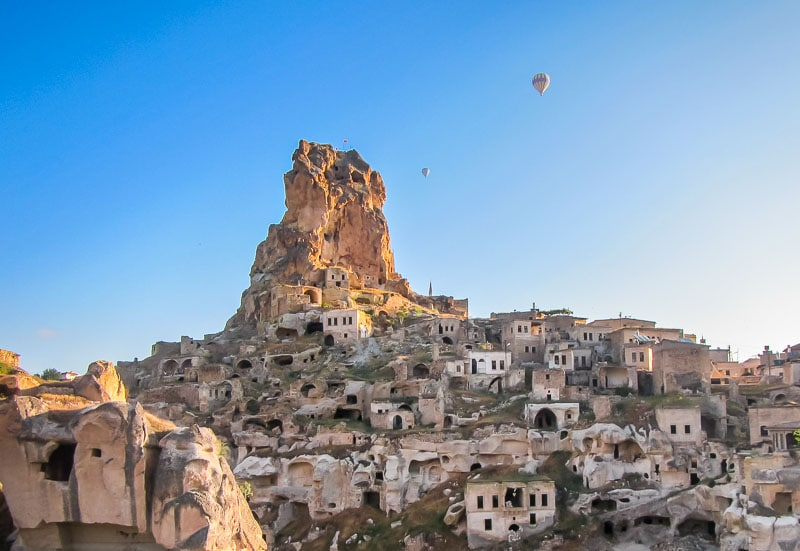 Goreme ancient castle in Turkey