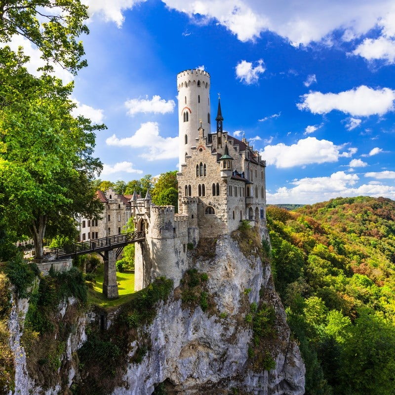 Lichtenstein Castle in summer