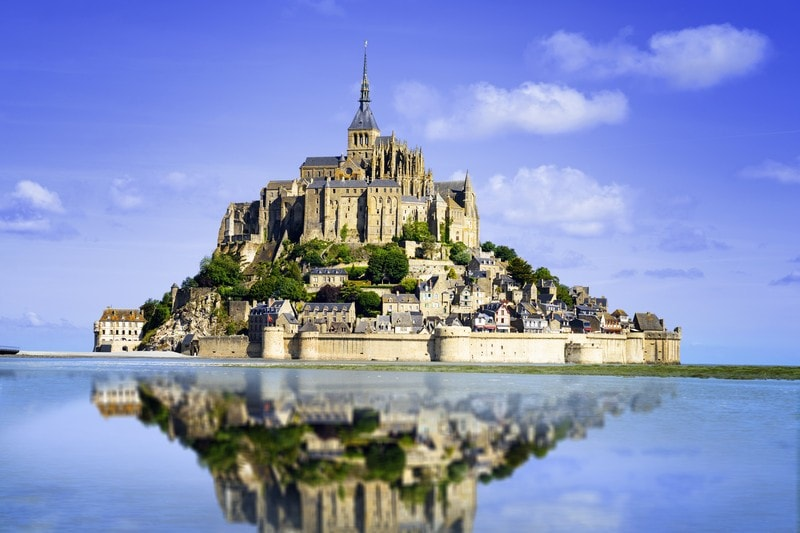 Mont Saint Michel Island in France