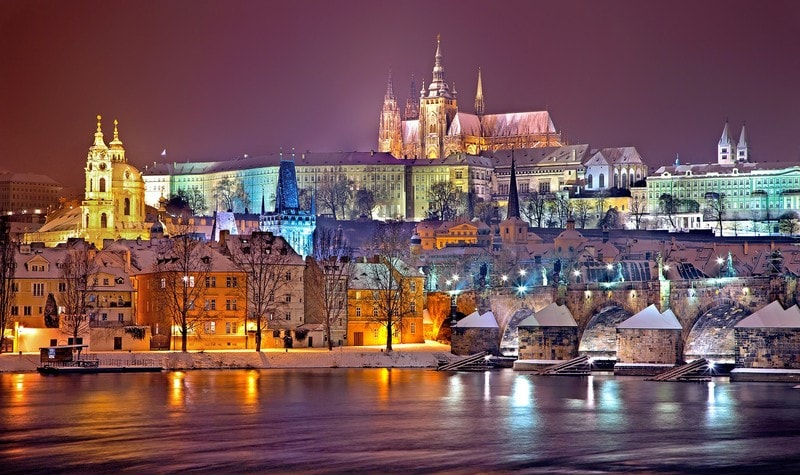 Prague Castle across the water
