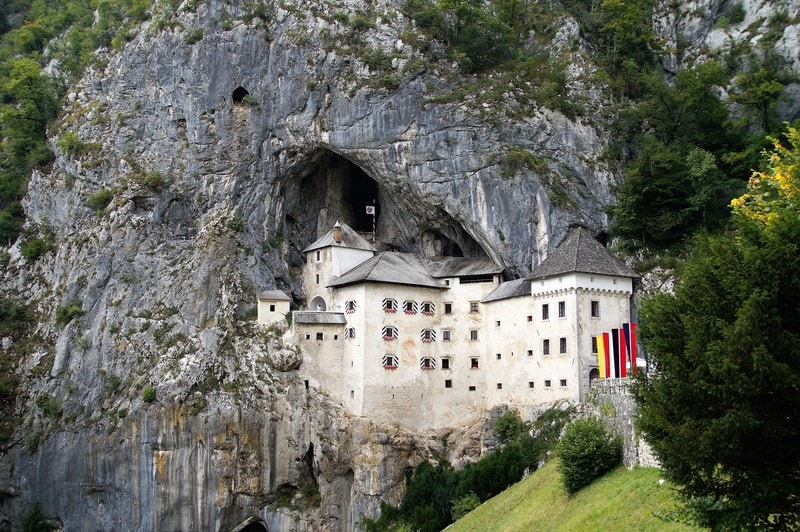 Predjamski Castle in Slovenia castle built into a cave
