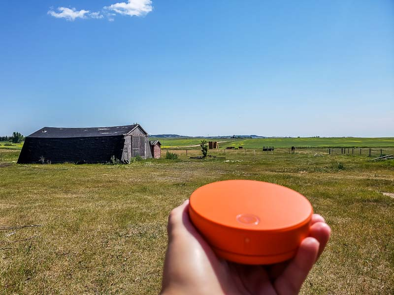 Skyroam Solis in Canadian prairies