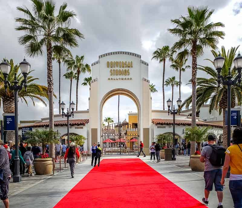 Universal Studios Hollywood red carpet