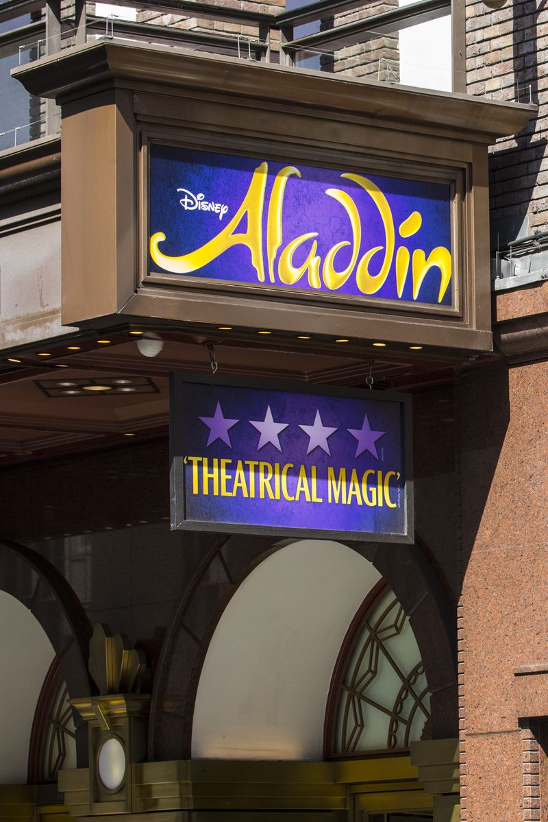 Alladin showing at the Prince Edward Theatre London DP