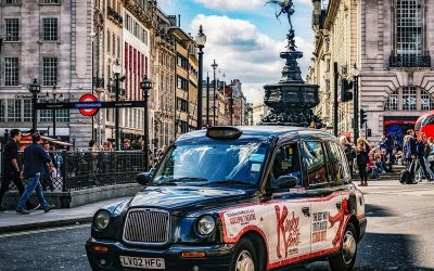 taxi in Piccadilly London