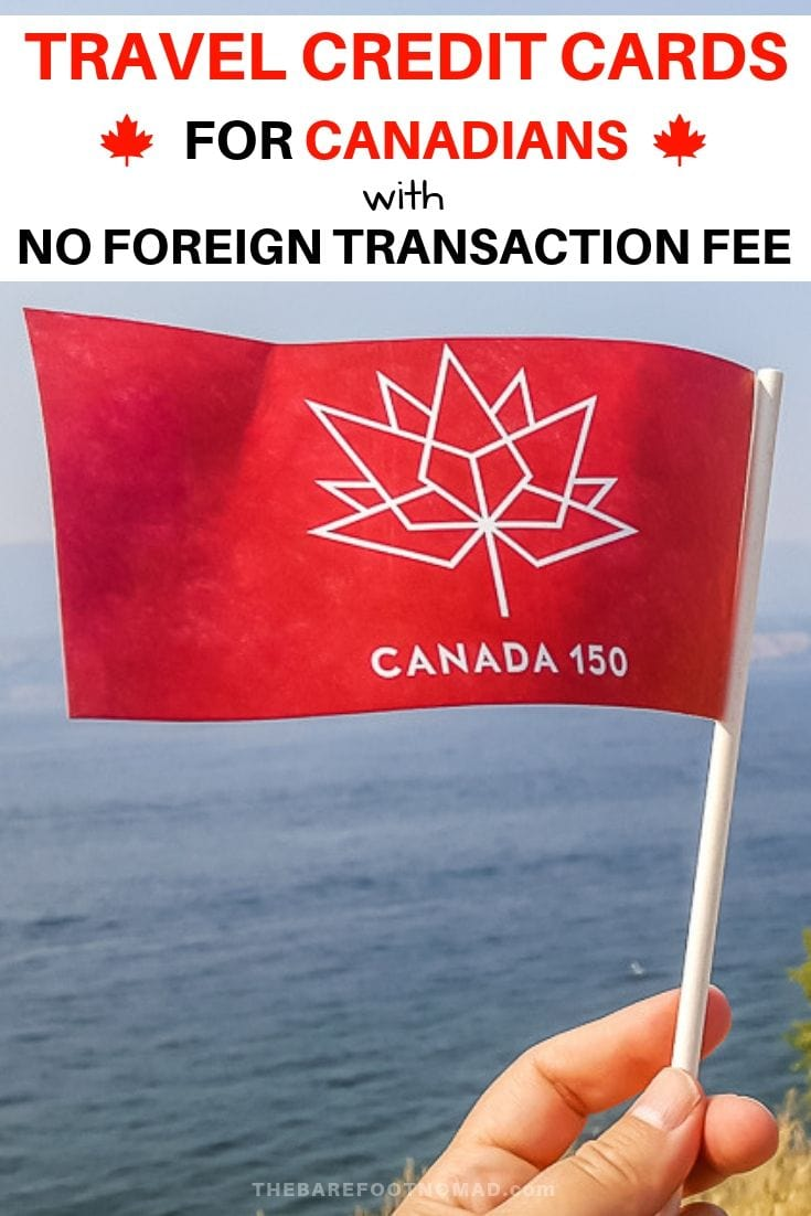 travel credit cards for Canadians with no foreign transaction fee