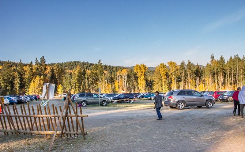 parking lot at Tsutswecw Provincial Park British Columbia