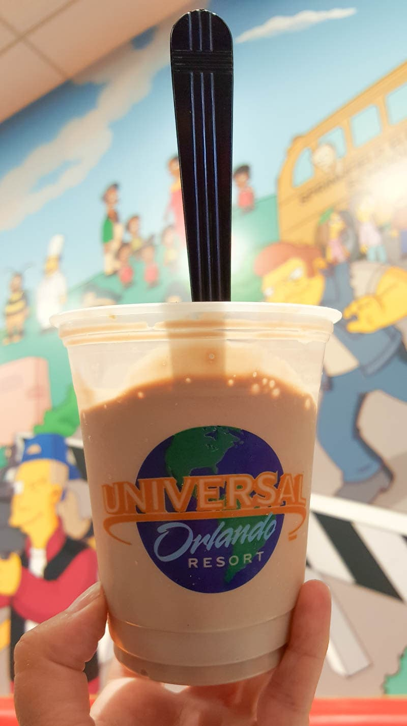 milkshake from Crusty Burger at Universal Orlando