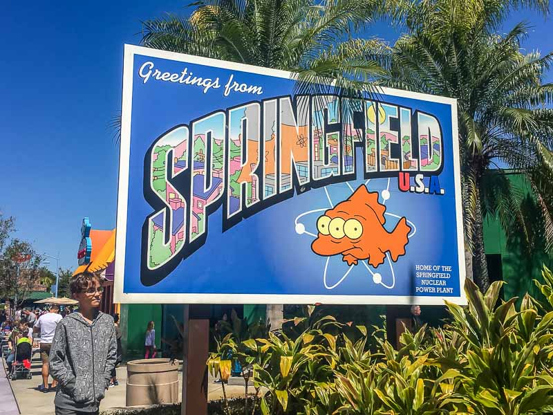 Springfield sign and tips for Universal Orlando