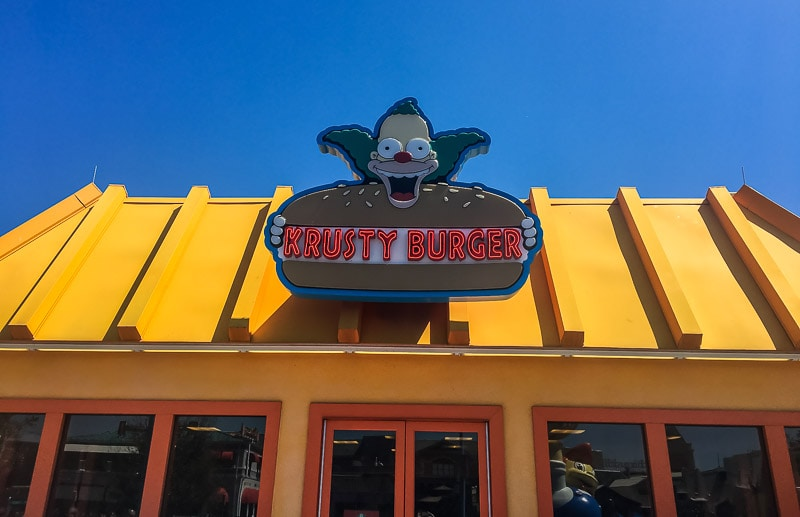 Crusty Burger at Universal Orlando