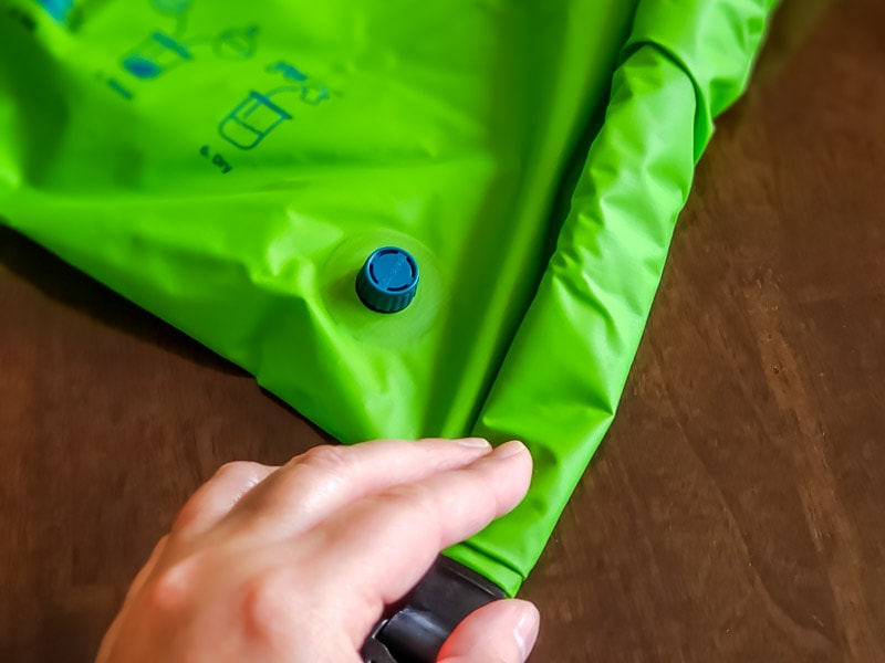 Scrabba review - Scrubba wash bag with top folded