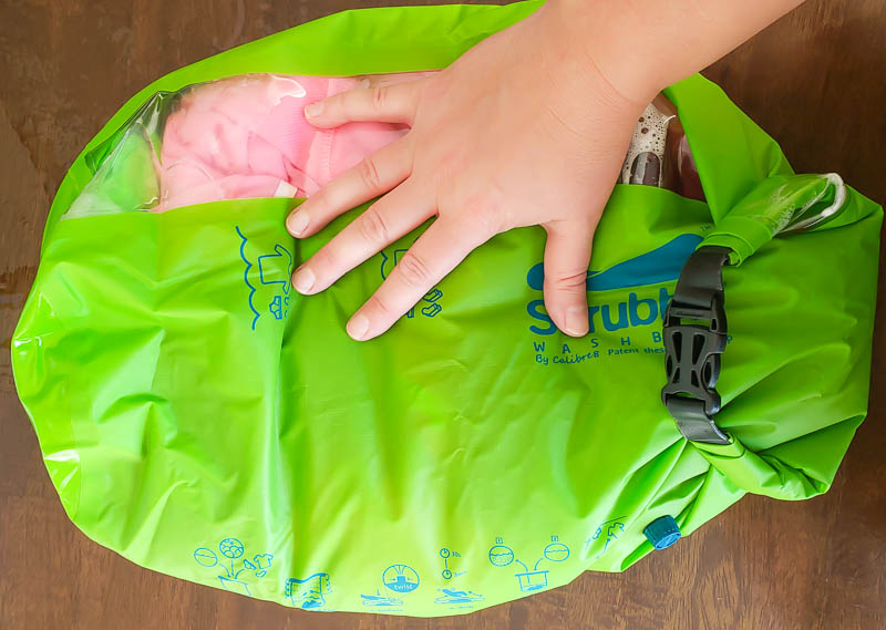 How to wash clothes in the Scrubba portable laundry bag
