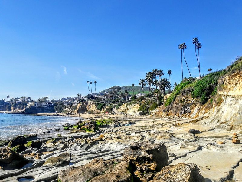 Laguna Beach on a weekend out of LA California
