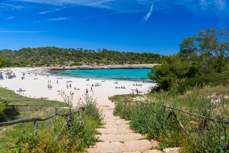 Beach Cala SAmarador Mondrago Natural Park Majorca S