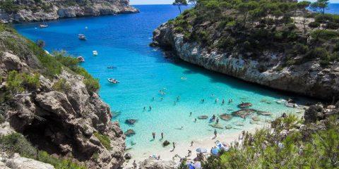 Calo des Moro beach in Mallorca Spain