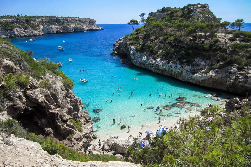 Calo des Moro beach in Mallorca Spain