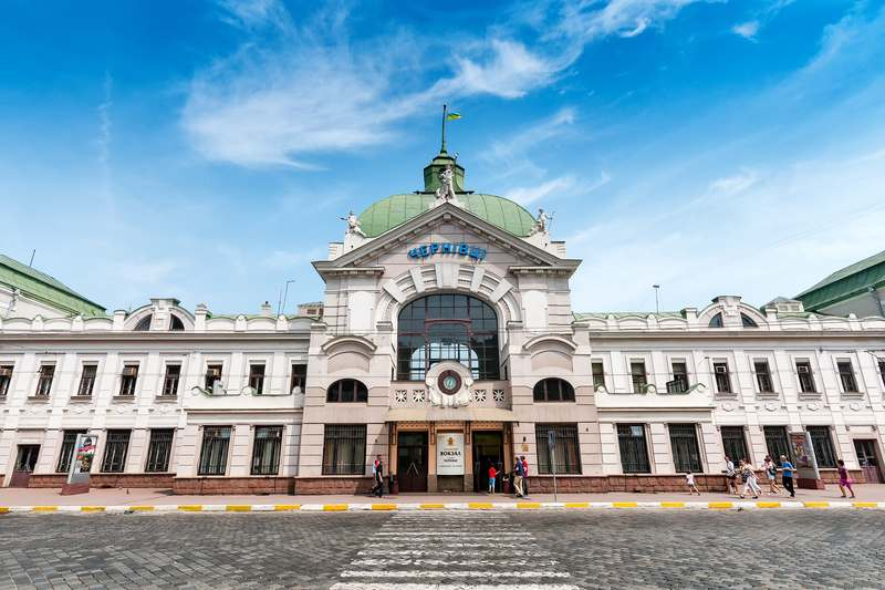 Chernivtsi Ukraine Railway Station