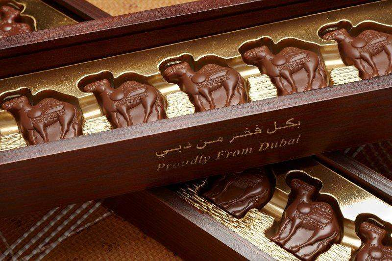 Al Nassma Chocolate made with camels milk in Dubai