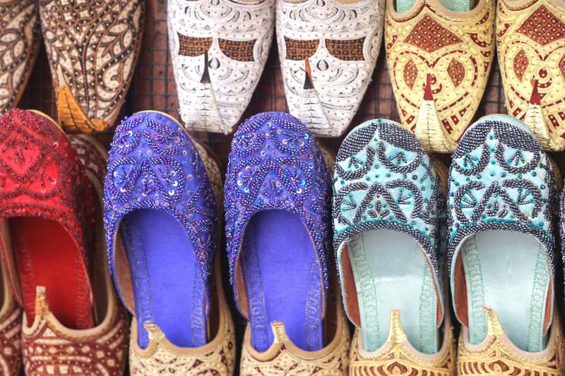 embroidered shoes in Dubai