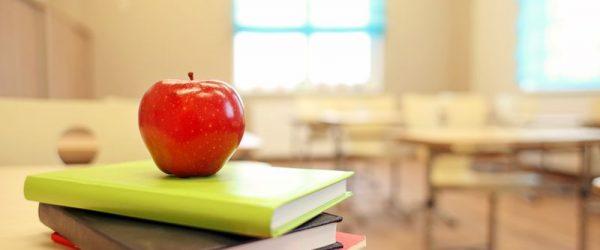Teachers apple and books