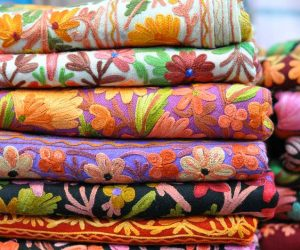 traditional colorful Arabic scarves souvenir Dubai