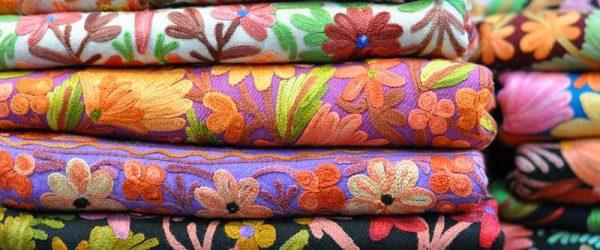 traditional colorful Arabic scarves souvenir Dubai