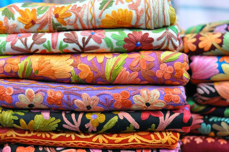 colorful Arabic scarves