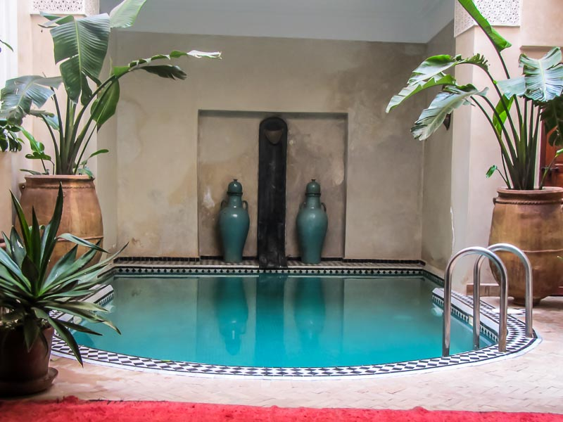 swimming pool at Riad Ourika