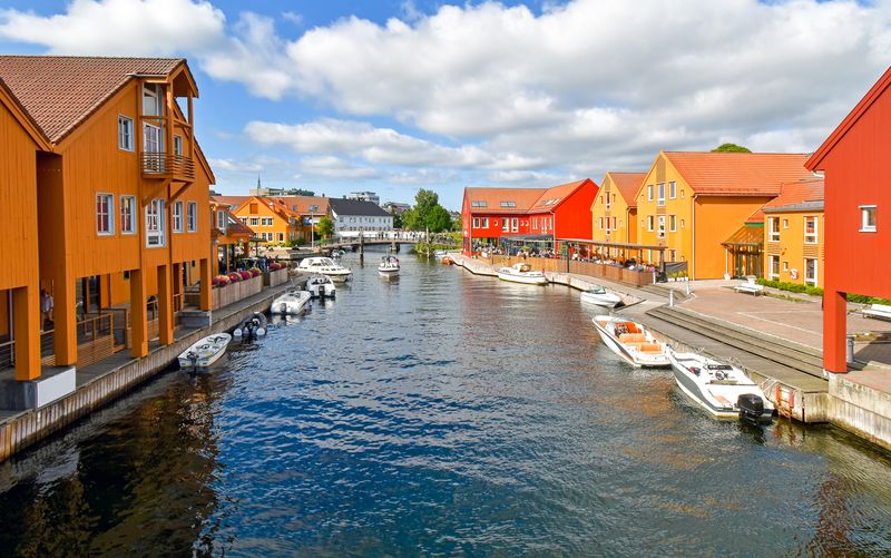 Fiskebrygga district in Kristiansand Norway