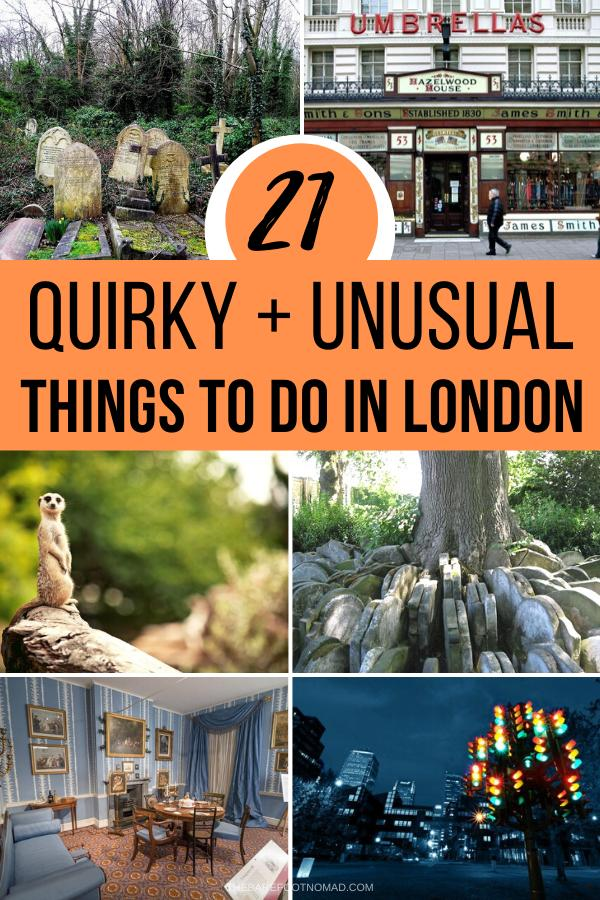 quirky and unusual things to do in London England