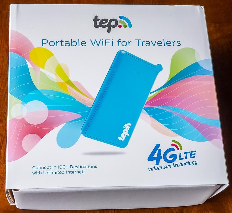 Tep portable WiFi 4GLTE box