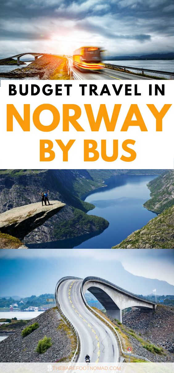 budget travel in Norway by bus