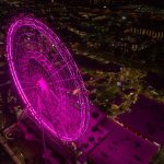 Things to do at ICON Park Orlando Eye Ferriss wheel at night at ICON Park Orlando
