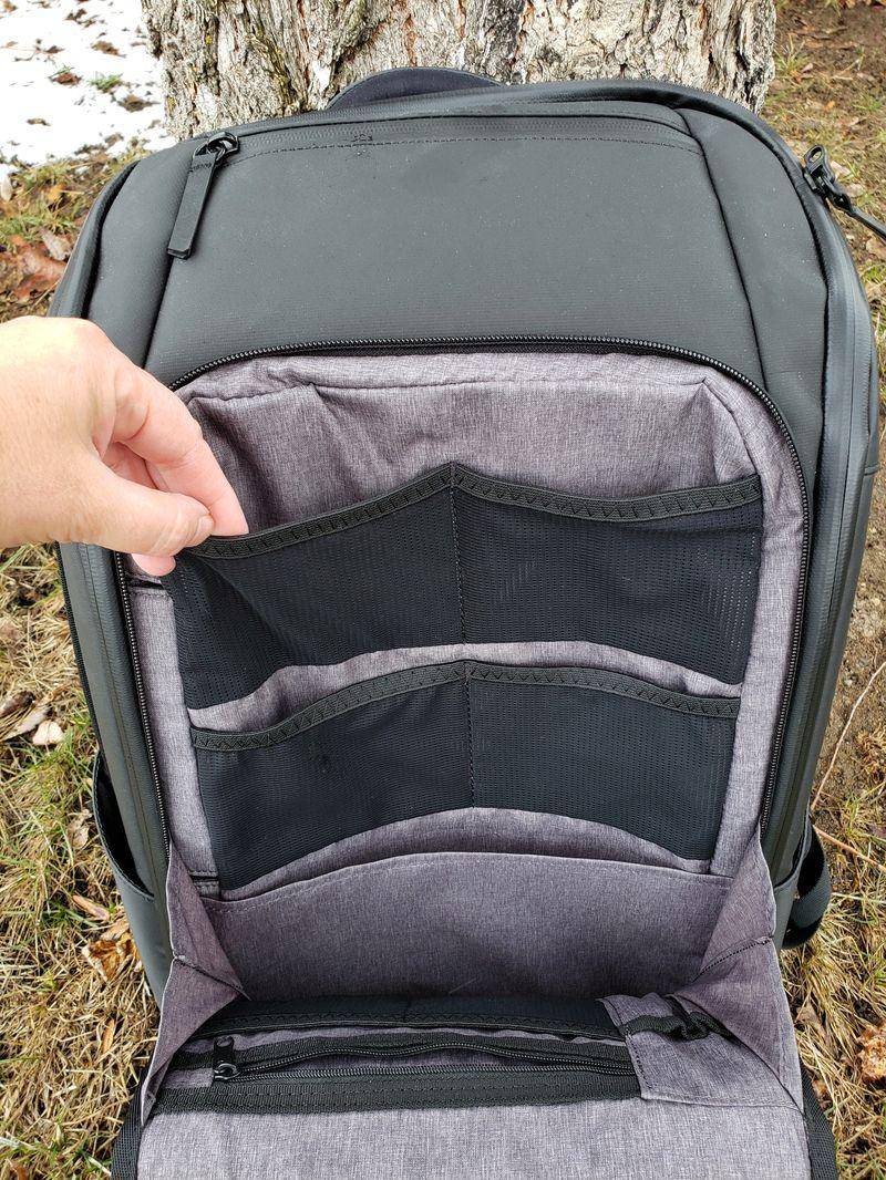 Nomatic backpack front pocket