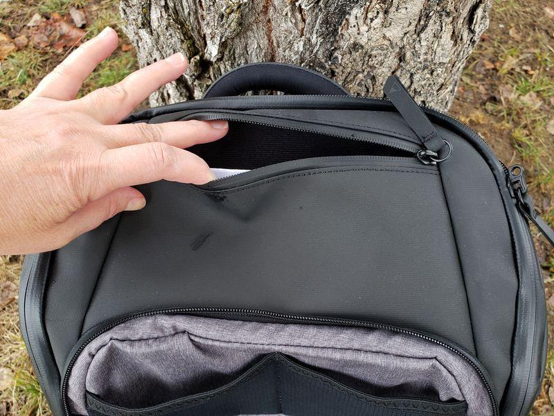 Nomatic backpack top passport pocket