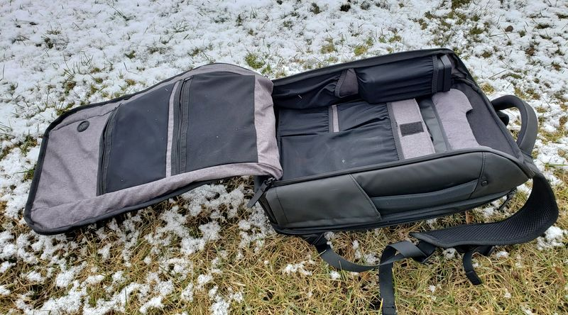 Nomatic backpack fully open sideways main compartment