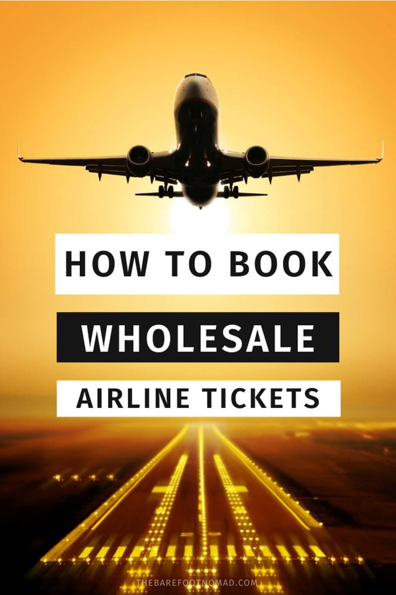how to book wholesale airline tickets for cheap flights