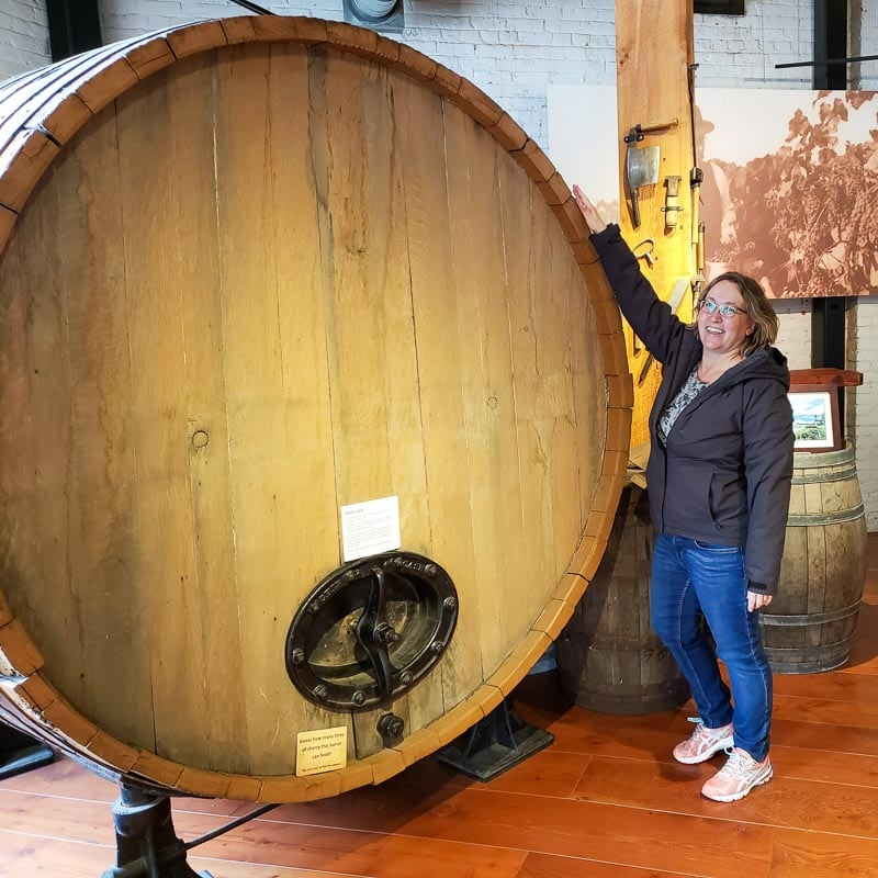 Big wine barrel at Okanagan Wine and Orchard Museum in Kelowna