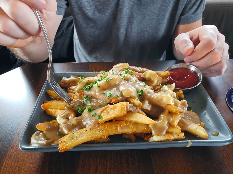 poutine at Train Station Pub in Kelowna