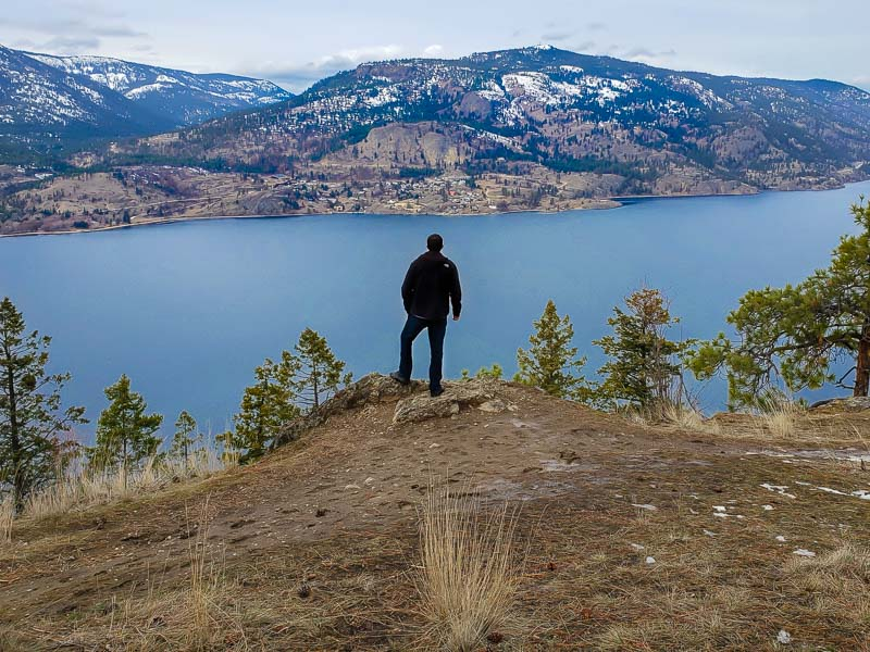 Overlooking Okanagan Lake on Knox Mountain in Kelowna BC